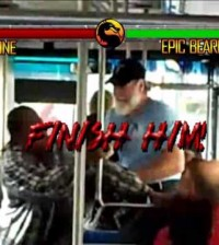 New Mortal Kombat Pilot Game Starring Epic Beard Guy: Bus Bloodbath Video!